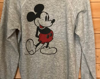Vintage Mickey Mouse sweatshirt, Vintage Disney Sweatshirt, Vintage Mickey Sweater