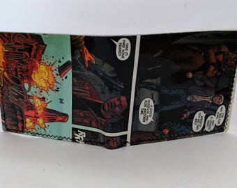 comic book wallet, slim wallet, hanmade wallet, card holder, thin wallet, vinyl wallet, mens wallet,star wars