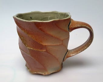 Woodfired Porcelain Celadon Mug