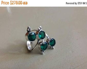 Holiday SALE 85 % OFF Tourmaline  Size Adjustable  Ring Gemstone. 925 Sterling  Silver
