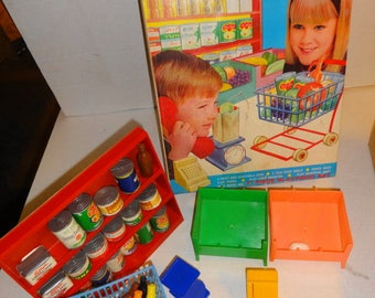 1960s Supermarket & Play Food set by Norstar.