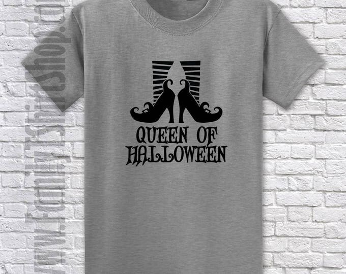 Queen of Halloween Shoes T-Shirt - Witches Shoes T-Shirt