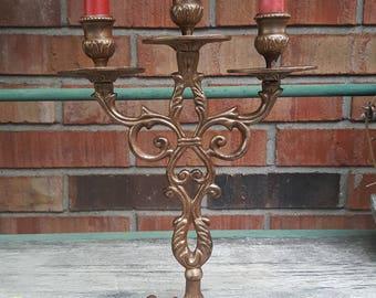 Copper / Gold Metal Candelabra