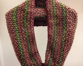Handknit Nature is Neat infinity scarf
