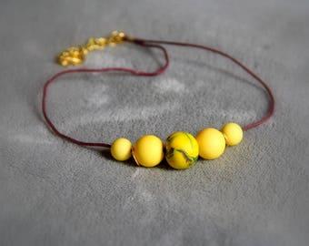 """""""Sun"""" necklace * short necklace"""
