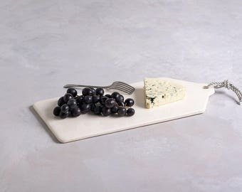 White Ceramic Serving Platter, White Serving Dish, White Decorative Plate, Decorative Serving Tray, Ceramic Cheese Board, Housewarming Gift
