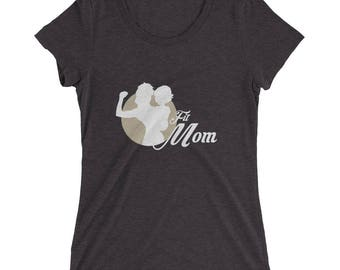 Ladies' short sleeve t-shirt Fitmom