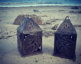Tin Lanterns HHL84Wedding lantern/candle holder/centerpiece/custom metal/home decor/home gift