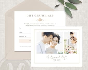 Wedding certificate etsy wedding photography gift certificate template photography gift certificate template photoshop template for photographers yelopaper Image collections