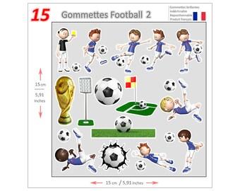 Mini stickers Soccer GOM014 - Gommettes Football GOM014