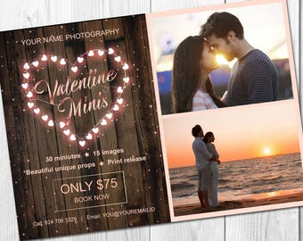 Customize Valentine mini session template