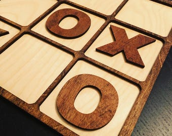 Tic Tac Toe Wooden Customizable Game