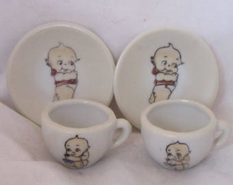 Vintage Kewpie Doll Dishes