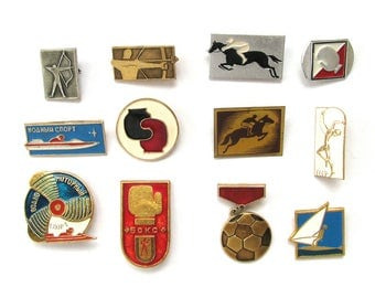 Sports, Soviet Badge, Kinds of sport, Summer, Pick from Set, Archery, Pin, Vintage metal collectible pins, Soviet Union, Made in USSR