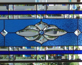 Stained Glass Window Hanging 28 X 14
