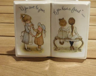"Vintage 1973 Holly Hobbie "" if you have a friend"" planter"