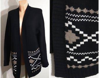 Cardigan Sweater Women Sweater Dress Size 12 / 40 Medium