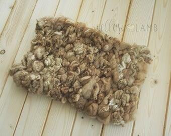 Chunky woven blanket woolly basket stuffer newborn photo props fluffy rug