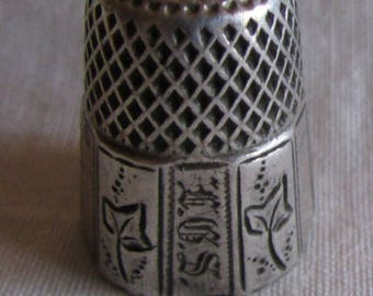 Sterling Silver Thimble  8
