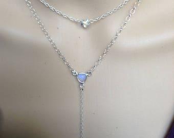 Gemstone and Swarvoski Choker Necklace