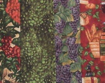 Wine  Fabric Bundle - Wine Cellar  Grace Pullen for SSI - 5 Half Yard Cuts - 100% Cotton - Price per yard