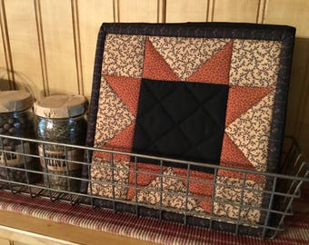 Autumn Potholders / Handmade/Fall Decor  /Kitchen Pot Holders / Primitive Decor / Item #2152