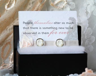 Pride and Prejudice, Jane Austen gifts, Jane Austen jewelry, Jane Austen, Jane Austen earrings, bookworm gifts, classic literature, readers