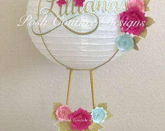 Hot Air Balloon Centerpiece/ Hot Air Balloon Decoration/ Hot Air Balloon Bridal Shower/ Hot Air Balloon Baby Shower/ Nursery Decor