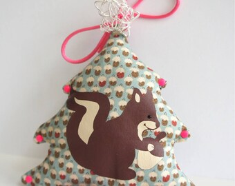 "Hanging Christmas decoration, ""squirrel"" theme."