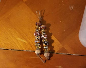 Beautiful beaded keychain