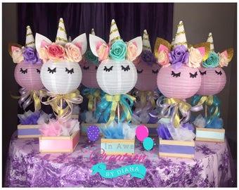 Unicorn centerpiece etsy for M m decorations parties