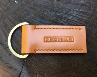 Small Leather Key Fob