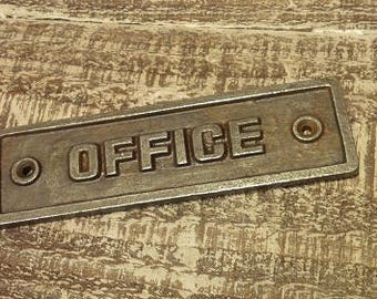 Office - Cast iron plaque
