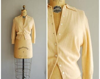 20% SALE Melba cardigan • 1950s cashmere sweater