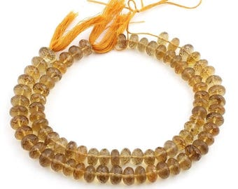 Valentines Day 2 Strands Beer quartz Faceted Rondelles - Beer quartz   Roundle beads 10mm-13mm 10 Inches SB543