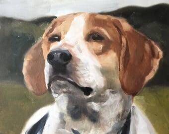 Dog Painting Beagle Dog Art PRINT Dog - Art Print  - from original painting by J Coates
