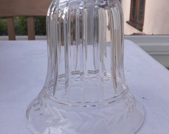 Vintage Cut Crystal Clear Glass Light/ Lamp Shade