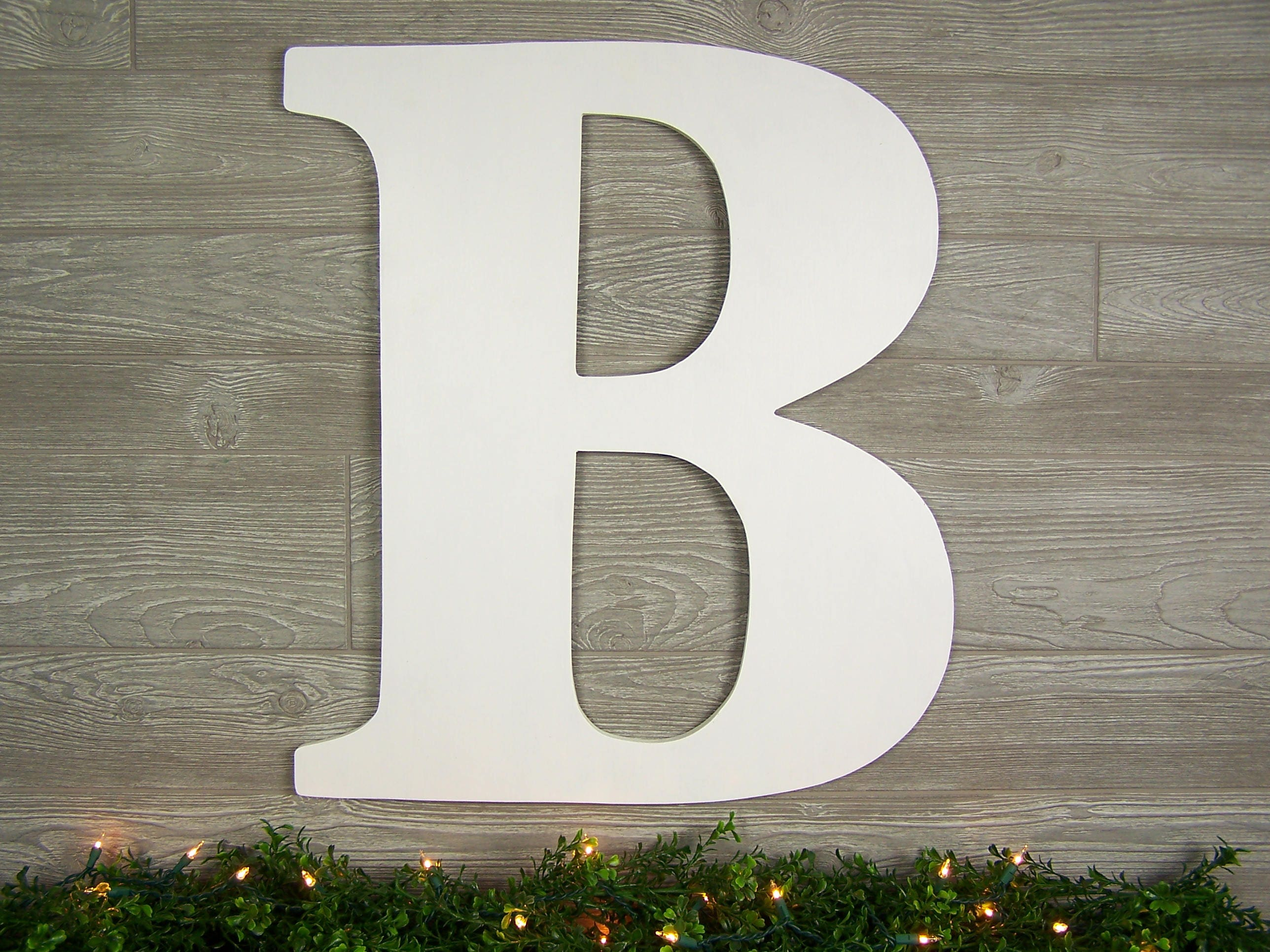 Large wooden letter b wall decor rustic home decor wood for Big wooden letter b