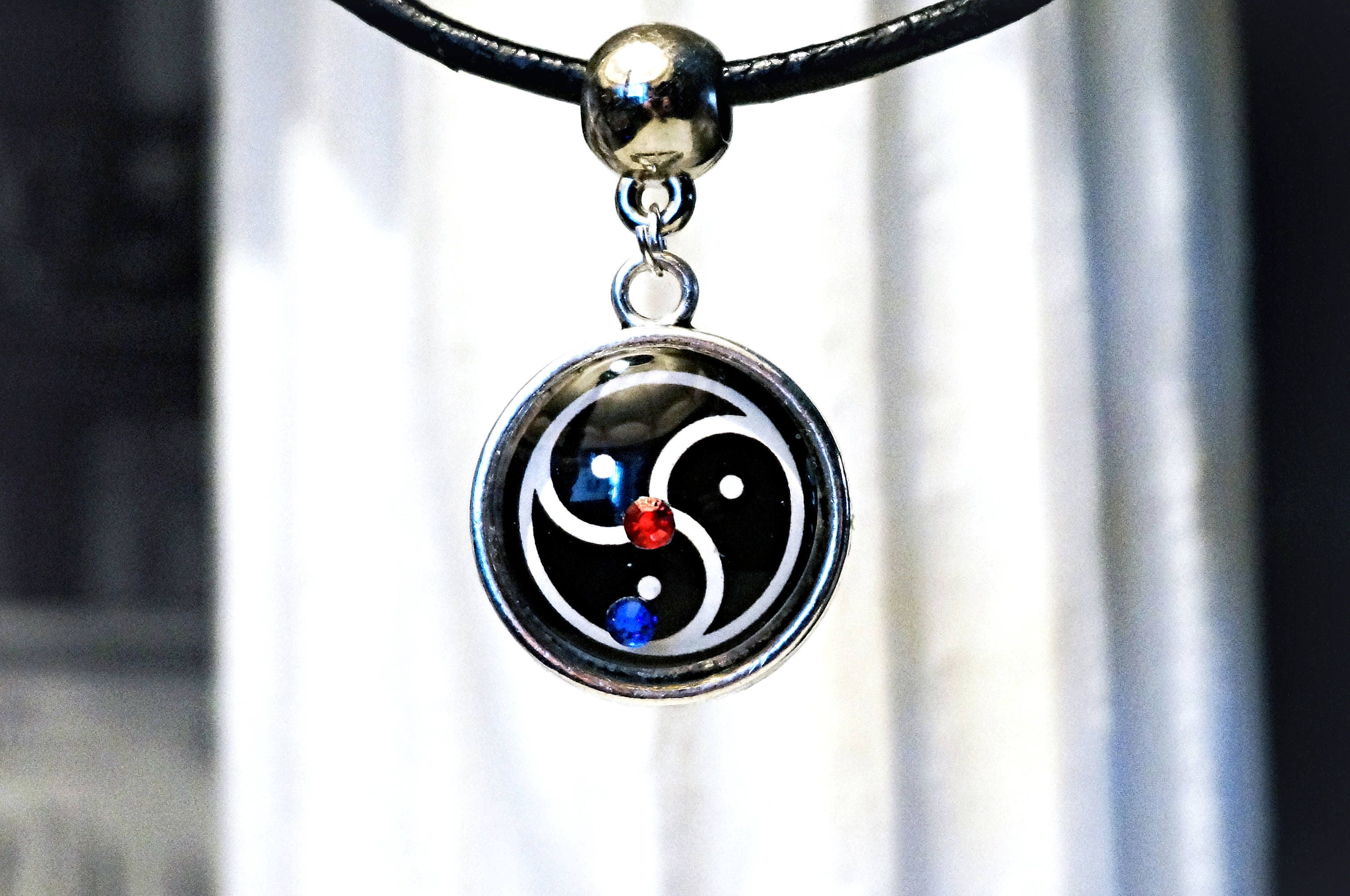 with from druid necklace bc pendant products date england ireland wax gemstone northern circa silver seal triskelion origin irish celtic norther triskele
