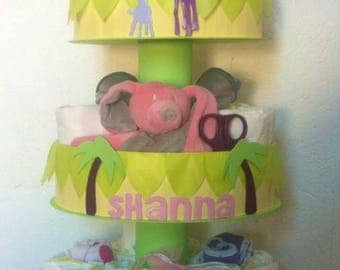 "3 floors 'in the Savannah""diaper cake"