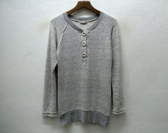 BEAMSBOY Japanese Brand Button L/S Sweatshirt Sz S