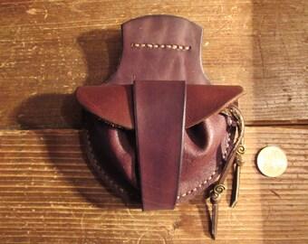 small purse leather steampunk belt bag