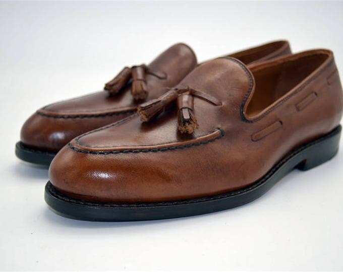 Handmade Goodyear Welted Men's Tasseled Loafer Shoes