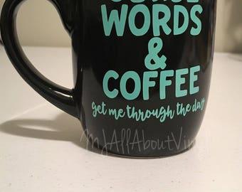Curse Words & Coffee custom made mug