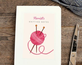 Personalised Knitting Notebook