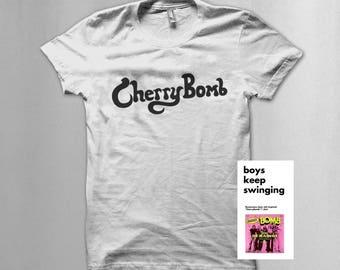"""Joan jett/ runaways inspired """"Cherry Bomb"""" T shirt"""
