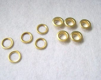 Gold eyelets Grommets Eyelets Gold 10mm eyelets rivets - pack of 5