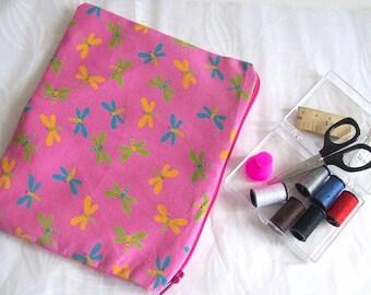 sewing travel kit sewing kit pink mini sewing bag pink dragonfly sewing kit
