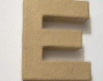 Paper mache letter E Block letter E cardboard strong letter.