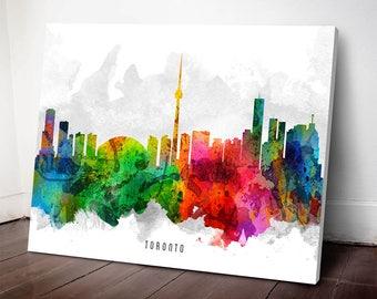 Toronto Skyline Print, TorontoArt, Toronto Cityscape, Toronto Art Print, Home Decor, Gift Idea,  CAONTO12C